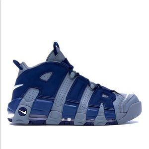 Nike Air More Uptempo Cool Grey midnight Navy.